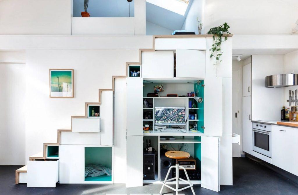 Ottimizzazione dei piccoli spazi domestici tecniche e for Arredamento per piccoli spazi