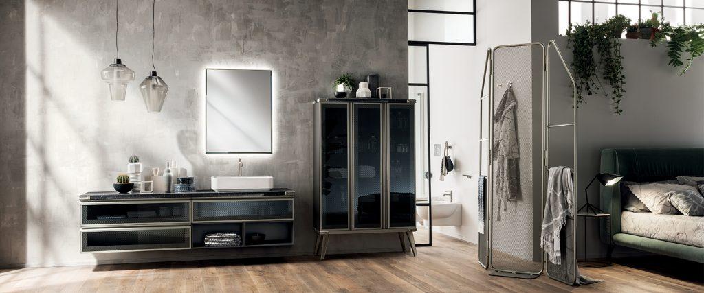 camera da letto con bagno scavolini open space